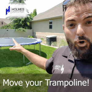 Don't let your trampoline roast your lawn!